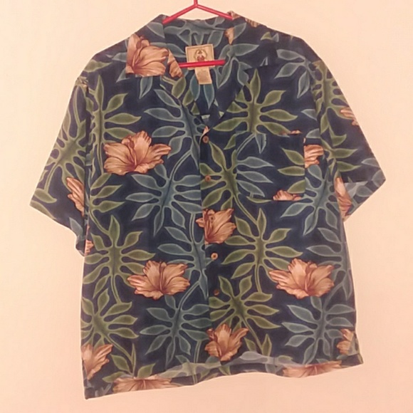 74f12b2d Joe Marlin Shirts | Mens L Blue Tropical Hawaiian Shirt | Poshmark